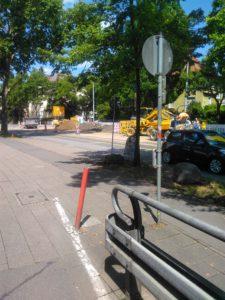 Bild von der Baustelle in der Heidelberger Straße