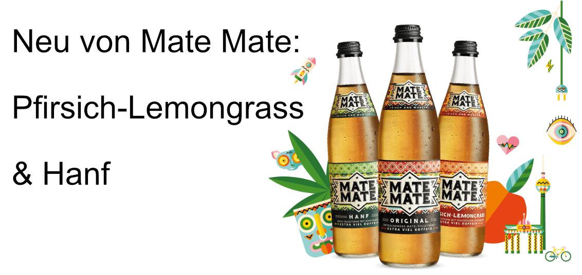 Mate Mate Hanf und pfirsich-Lemongrass